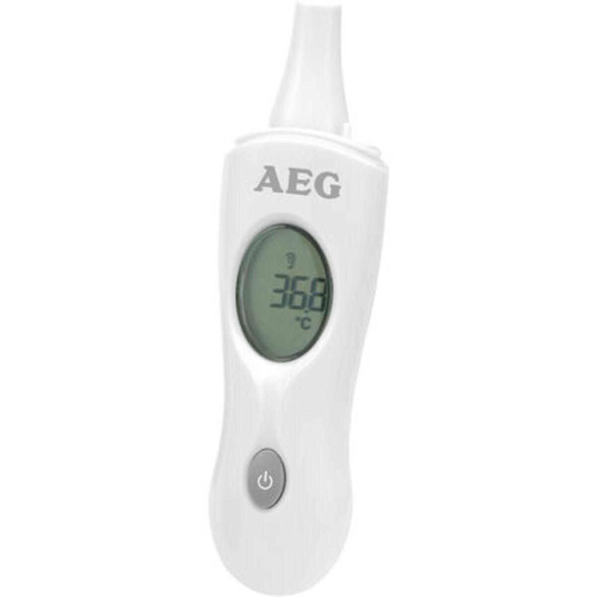 Bild 1 von AEG Infrarot-Thermometer FT 4925, Ohr-/Stirnmessung, 4in1, Ein-Knopf-Messung, weiß/grau