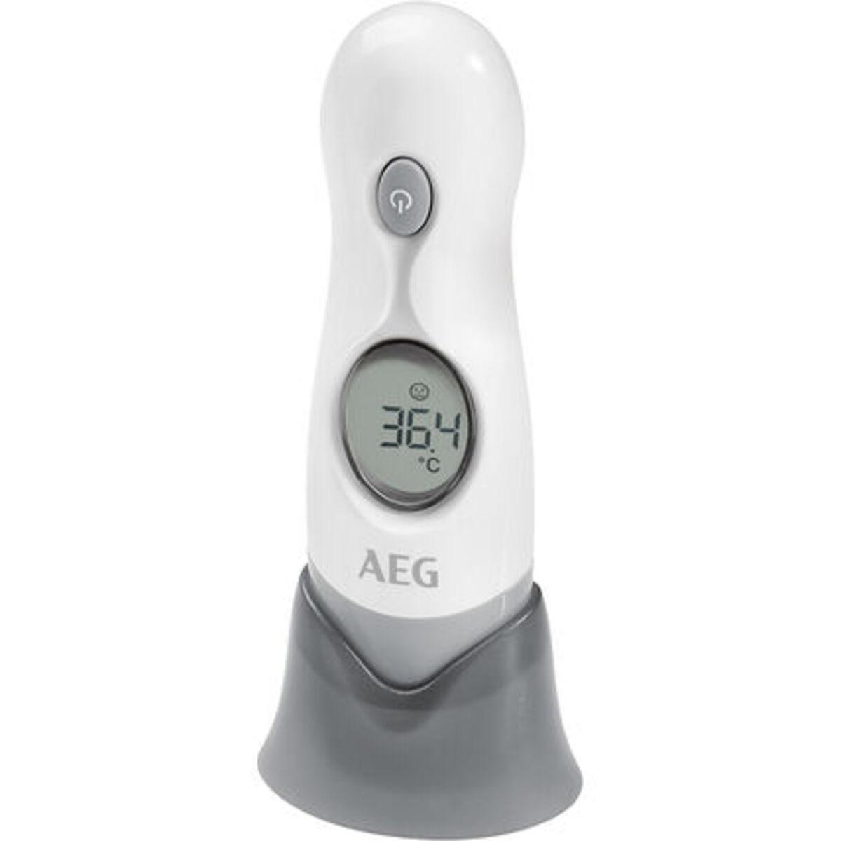 Bild 2 von AEG Infrarot-Thermometer FT 4925, Ohr-/Stirnmessung, 4in1, Ein-Knopf-Messung, weiß/grau