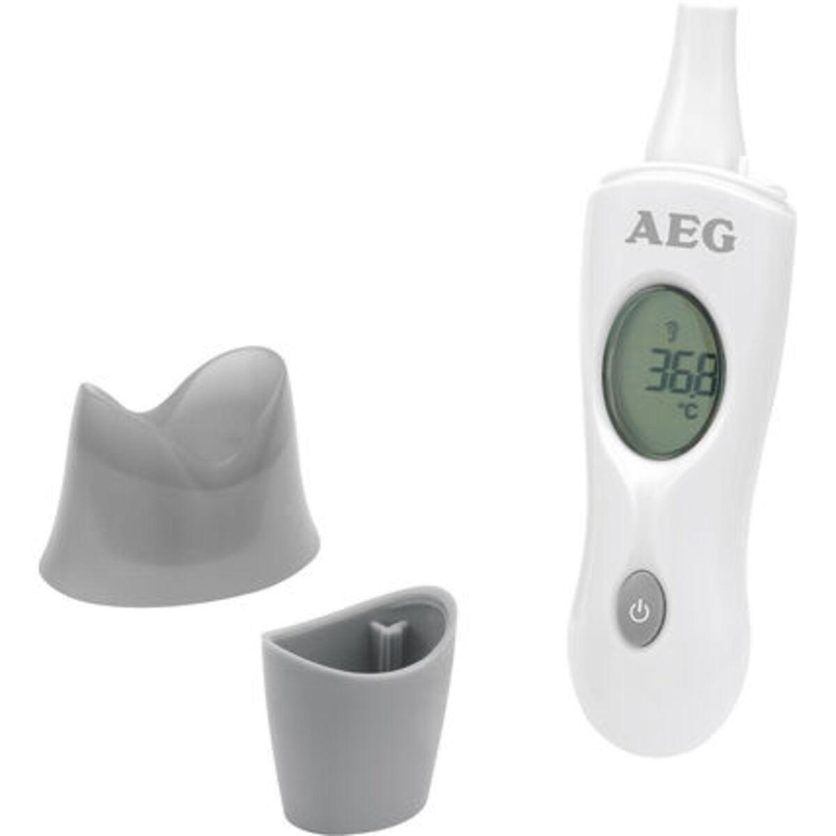 Bild 3 von AEG Infrarot-Thermometer FT 4925, Ohr-/Stirnmessung, 4in1, Ein-Knopf-Messung, weiß/grau