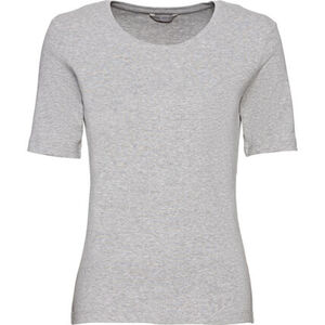 K-Town T-Shirt, Rundhals, unifarben, Kurzarm, für Damen