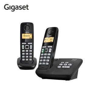 Schnurlos-DECT-Telefon Gigaset AL225A DUO · Freisprech- und CLIP-Funktion · Telefonbuch für bis zu 80 Einträge · ECO DECT, Standardakkus · digitaler Anrufbeantworter