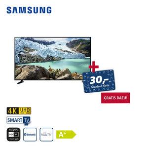 UE65RU7099 (mit AirPlay-Unterstützung) • 3 x HDMI, 2 x USB, CI+ • geeignet für Kabel-, Sat- und DVB-T2-Empfang • Maße: H 83,7 x B 145,8 x T 5,9 cm • Energie-Effizienz A+ (Spektrum A++ bis