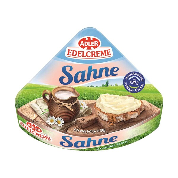 Adler Edelcreme Schmelzkäsezubereitung, 57% Fett i. Tr., versch. Sorten, jede 100-g-Packung
