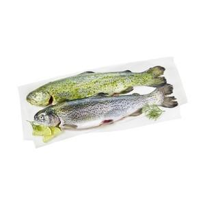 Regenbogenforelle aus Aquakultur,ausgenommen mit Kopf,     je 100 g