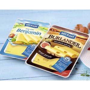Milram Benjamin Gouda oder Burlander herzhaft würzig Deutscher Schnittkäse, 48 % Fett. i. Tr. und weitere Sorten jede 150-g-Packung