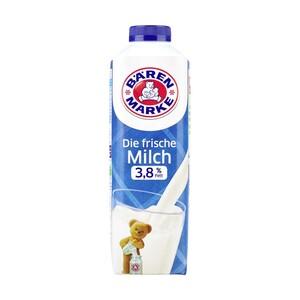 Bärenmarke Die frische Milch 1,8/3,8 % Fett, jede 1-Liter-Packung