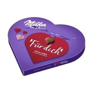 I love Milka Geschenkherz, Alles Gute oder Kleines Dankeschön, jede 165-g-Packung