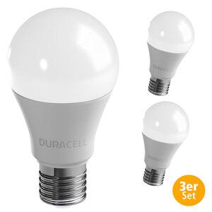 Duracell LED-Leuchtmittel, Birne, 11 W, E27, Warmweiß - 3er Set