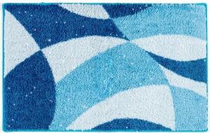 Sensino Polyacryl Badteppich mit Glitzerfaser - Wellen Blau