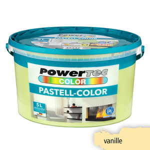 Powertec Color Pastell-Color Wandfarbe, matt - Vanille