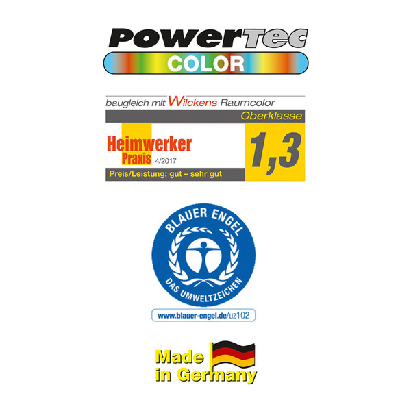 Powertec Color Pastell-Color Wandfarbe, Matt