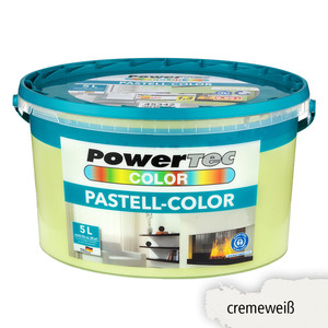Powertec Color Pastell-Color Wandfarbe, matt - Cremeweiß