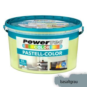 Powertec Color Pastell-Color Wandfarbe, matt - Basaltgrau
