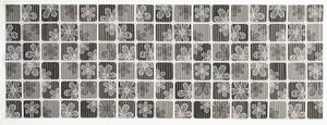 Sensino Allzweckmatte, ca. 65 x 180 cm - Karo schwarz/weiß