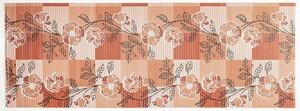 Sensino Allzweckmatte, ca. 65 x 180 cm - Braun mit Blumen