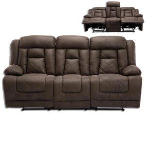 3-Sitzer Sofa - Vintage braun - Kunstleder