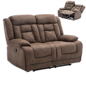 2-Sitzer Sofa - Vintage braun - Kunstleder