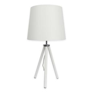 LAMPURA Tischleuchte - silber-weiß - 50 cm hoch