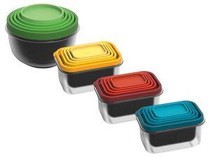 ERNESTO® Frischhaltedosen Set, 5-teilig, spülmaschinengeeignet, ineinander verstaubar