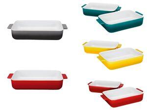 ERNESTO® Auflaufform, mit kratzfester Glasur, spülmaschinengeeignet, aus Steinzeug