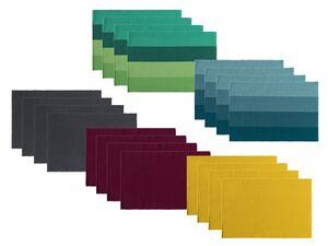 MERADISO® Platzsets, 4 Stück, 33 x 48 cm, mit Ripp-Struktur, aus Baumwolle