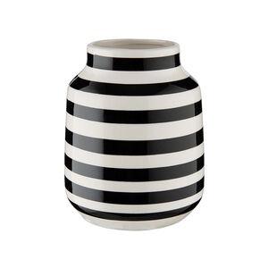 Butlers Malika Vase gestreift Ø13,5cm Schwarz-Weiß
