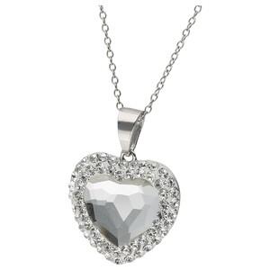 Smart Jewel Kette Herz mit Kristallsteinen, Silber 925