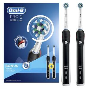 Oral-B Pro 2900 Cross Action Elektrische Zahnbürste mit zweitem Handstück