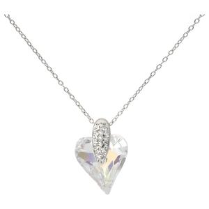 Smart Jewel Kette Swarovski Steinen in rund und in Herzform, Silber 925