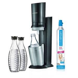 SodaStream Crystal Plus Incl. 3 Glaskaraffen 0,6L Wassersprudler