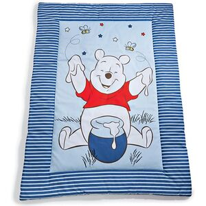 Disney Baby Krabbeldecke, ca. 100 x 135 cm - Winnie the Pooh, blau