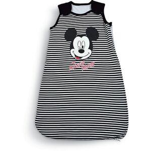 Disney Baby Schlafsack - Mickey Mouse, schwarz/weiß gestreift, Gr. 70