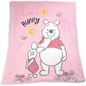 Disney Baby Kuscheldecke, ca. 100 x 75 cm - Winnie the Pooh, rosa