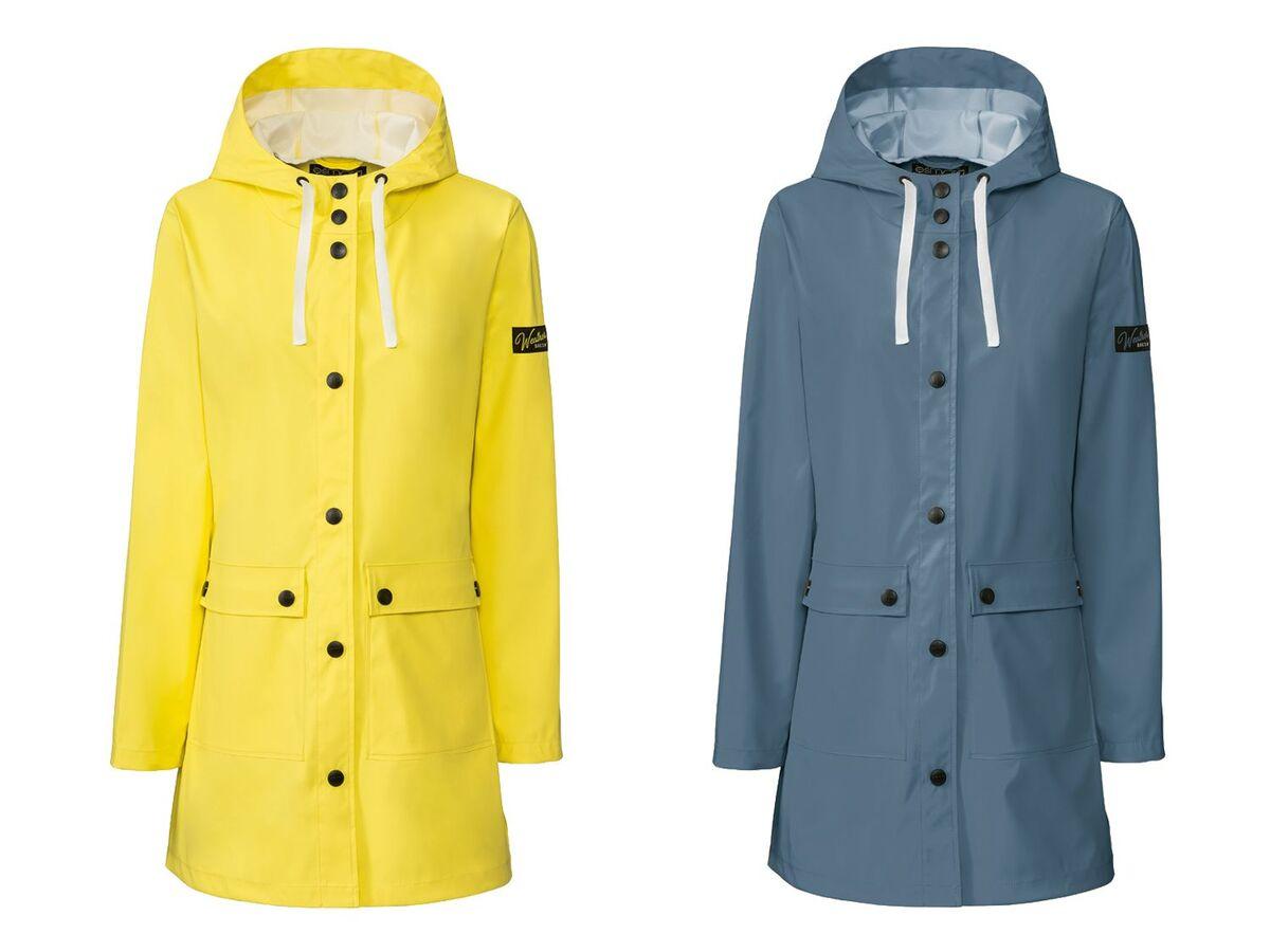Bild 1 von ESMARA®  Regenmantel Damen, mit 2 Taschen, hoher Stehkragen, weitenverstellbare Kapuze