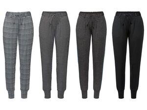 ESMARA® Business Jogger Damen, Stoffhose, Seitliche Eingrifftaschen, mit Gürtelschlaufen