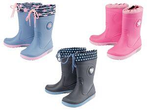 LUPILU® Kleinkinder Regenstiefel Mädchen, mit Blink-Effekt, rutschhemmende Laufsohle
