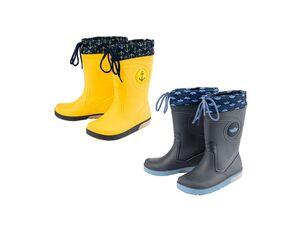 LUPILU® Kleinkinder Regenstiefel Jungen, mit Blink-Effekt, rutschhemmende Laufsohle