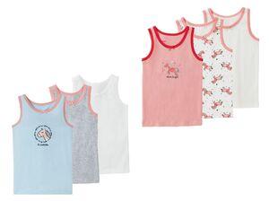 LUPILU® Kleinkinder Mädchen Unterhemd 3er Set