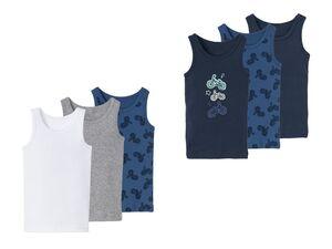 LUPILU® Unterhemd Jungen, 3 Stück, hoher Baumwollanteil