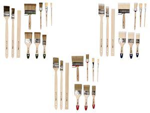 POWERFIX® Pinsel Set, 10-teilig, mit Kunstfaser-Filamenten, aus Birken- und Pappelholz
