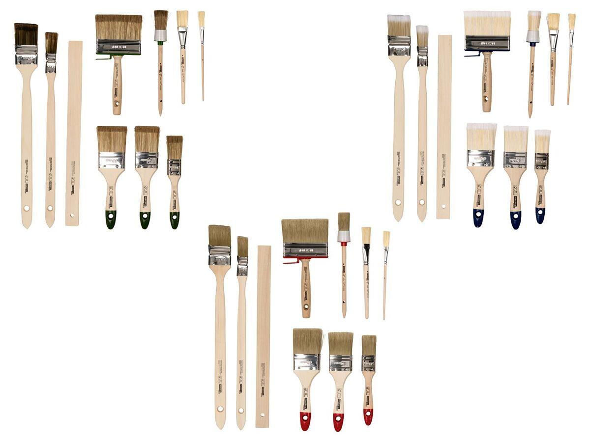 Bild 1 von POWERFIX® Pinsel Set, 10-teilig, mit Kunstfaser-Filamenten, aus Birken- und Pappelholz