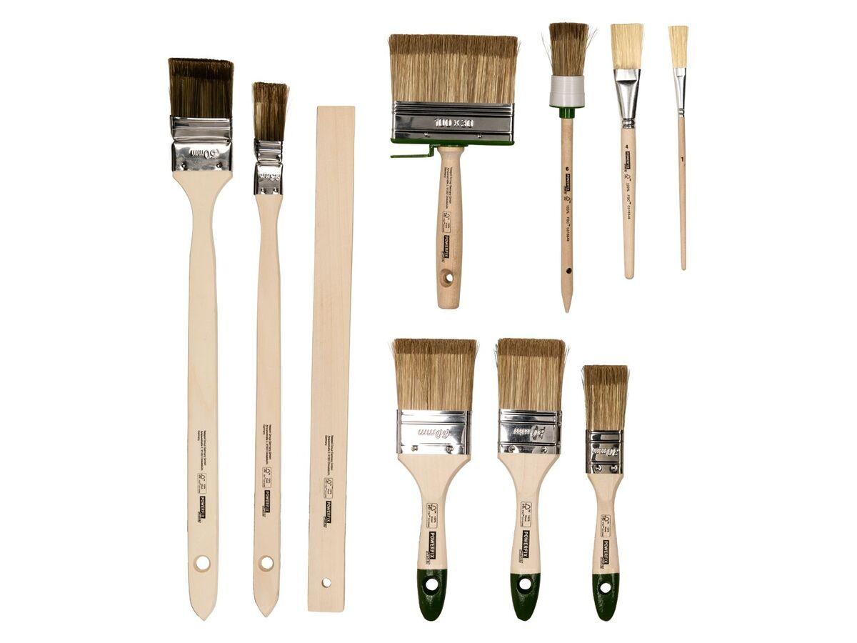 Bild 2 von POWERFIX® Pinsel Set, 10-teilig, mit Kunstfaser-Filamenten, aus Birken- und Pappelholz