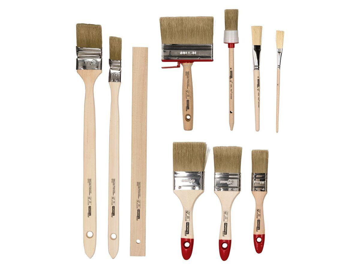 Bild 4 von POWERFIX® Pinsel Set, 10-teilig, mit Kunstfaser-Filamenten, aus Birken- und Pappelholz