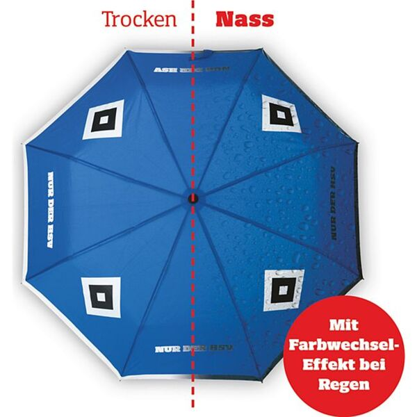 HSV Regenschirm mit Farbwechsel blau/weiß/schwarz