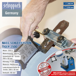 Scheppach Nassschleifmaschine Tiger 2500 0.2kW 230V/50 Hz