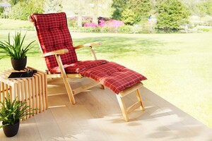 Solax-Sunshine Deckchair-Auflage, Bordeaux