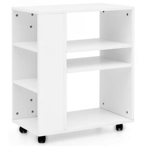 Wohnling Regal Weiß 60 x 75 x 35 cm