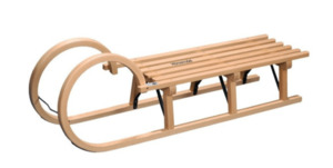 Colint Holzschlitten Hörner, 110 cm
