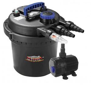 Mauk Teichdruckfilter- Set inkl. 11 Watt UVC-Klärer, Pumpe und Schläuche