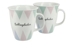 Kaffeebecher Harlekin, 2er-Set